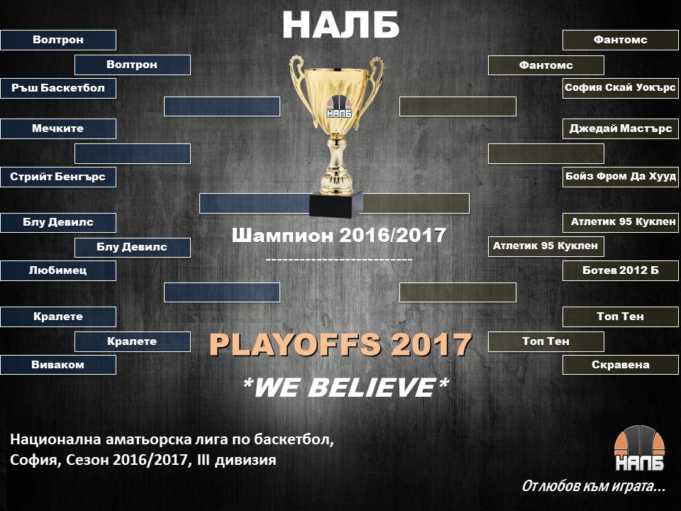 Трета дивизия, четвъртфинали