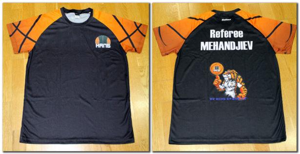 """Персонализирана черна тениска (без надписа """"Referee"""" и без картинката на гърба) – 23.00 лева*"""