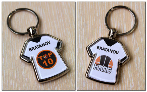 Персонализиран метален ключодържател с име и емблема на отбор - 5.50 лева*