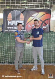Димитър Христов и Кристиян Маджуров по време на турнира през 2016 година