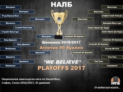 НАЛБ, Трета дивизия, София, Сезон 2016-2017
